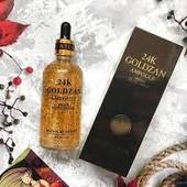 Антивозрастная Сыворотка 24K Gold Ampoule Goldzan с пептидами и экстрактом золота