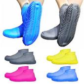 Дождевик для обуви, силиконовые чехлы для обуви от дождя, непромокаемые сапоги.Бахилы от дождя