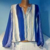 Шикарная блуза-рубашка на пуговичках в идеальном состоянии! Свободный крой