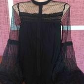 Стильная кружевная блуза р-р 8