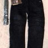 Тёплые вельветовые джинсы! Флис! На рост 116 уп-10%