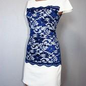 Качество! Комбинированное платье в отличном состоянии