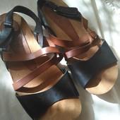 Испания, Yokono 36р, кожаные сандали на пробковой подошве