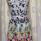 Платье с цветочным принтом хлопок