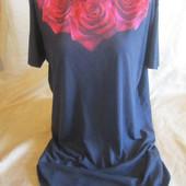 Красивая женская удлиненная футболка,состояние хорошее,р.14