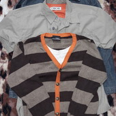 Рубашкa denim,реглан ,next свитер на 5-6лет.