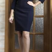Стоп ❤ шикарное фирменное темно-синее платье,42/44❤Много лотов!