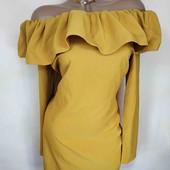 ♥️Шикарное платье волан с открытыми плечами ♥️