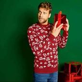 livergy.классный теплый новогодний свитерок S46/48