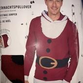 Рождественский пуловер с капюшоном,Дед Мороз Livergy размер на выбор!упаковка!