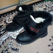Зимние ботинки!!! Мех нат. кролик!!! Стелька 24,5