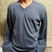 Собираем лоты!! Супер мягкий мужской свитер, размер м, 100 % мариносовая шерсть