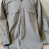 Мужская рубашка Orvis из плотного хлопка, цвет хаки, размер XL в идеале