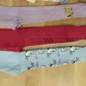 Фирменные колготки для девочки, Три пары, разм 86-92, пару раз одеты