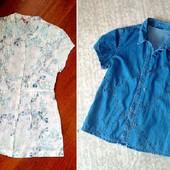 за блиц обе! 40-42р. Блузка-туника и рубашка, хлопок White Stuff, Roman - 1 в лоте