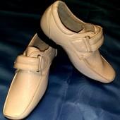 Новые! Натуральная кожа! Шикарные туфли на маленького джентльмена! 23 размер, на ножку до 14 см!