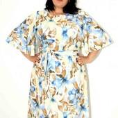 оочень красивое легкое платье большого размера батал 64 размер .