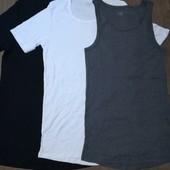 Лот 3 шт! Мужские футболки + майка Livergy размер 7/XL , много лотов с мужским бельём)