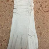 Класснючие длинные(32 см) женские перчатки, кашемир