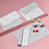 ☘ Лот 3 шт☘ Красивые тканые салфетки для сервировки стола от Tchibo (Германия)