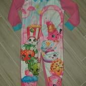 Слип пижама микрофлис на девочку 5-6лет камеры