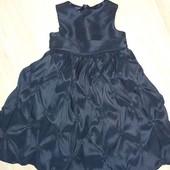 Красивое нарядное платье темно- синее 4года замеры на фото