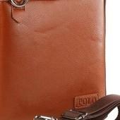 Дорогая модная мужская сумка Polo с расширением цвет виски