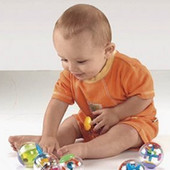 Развивающие фирменные сенсорные шарики 2 Fisher Price и 1 Simba!!!