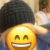 Новая зимняя шапка ручной вязки из шерсти