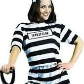Карнавальный костюм заключенной. Хеллоуин.
