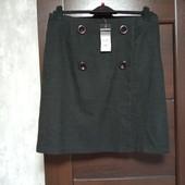 Фирменная новая красивая юбка на пуговицах р.14-16 полиэстер вискоза эластан