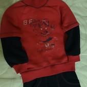 """Теплый спортивный костюм на флисе для девочки """"Бома"""", р.116. На 5-7лет. 100%хлопок.В идеале!"""