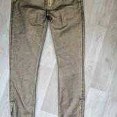 Zara/джинсы с напылением под кожу  /M-L!!!