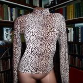 Леопардовая водолазка, футболка, вискоза
