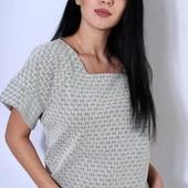 Трикотажная фабричная футболка блуза 46. 48. размеры.