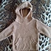 Теплый вязаный свитерок с капюшоном Next, 12-18 мес.