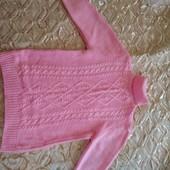 Тепленький свитерок с бусинами на девочку ростом 152-158 см. Состояние идеальное.