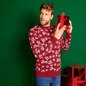 Новогодний брендовый свитер Livergy высокое качество!размер на выбор!
