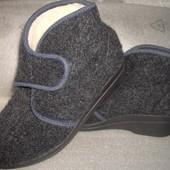 Теплые войлочные на овчинке тапки -ботинки Rohde Германия р.36 22.5см