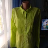 Симпатичная женская блузка/рубашка, р.42(48-50)
