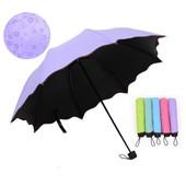 Новинка!!Женский зонт с проявляющимся рисунком на 8 сриц,мех.Очень красивый, Яркийй