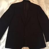 Пиджак тёплый мужской тёмно синий 54
