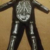 Слип Скелетика на карнавал костюмов на 3-4года