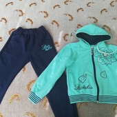 Турецкий спортивный костюм для девочки Рост 116-122 Состояние идеальное Хлопок