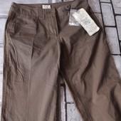 женские брюки отличного качества, новые с бирками, секонд 1й сорт, 34р. цвет болотный, не коричневый