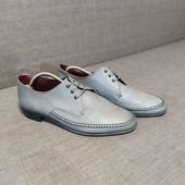 Кожаные туфли лоферы extra wide 43р/28.5см