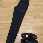 Теплі на флисе чорні спортивні штани трикотаж 3-ох нитка, Nike розмір 48.Якість!!