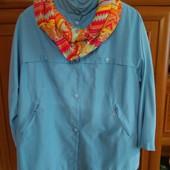 Жіноча курточка вітрівка на пишну красу.