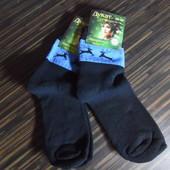 Носки женские черные махровые с оленем, лот 2 шт, р.36-41