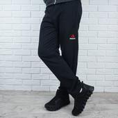 Батали є!!!Теплие на флисе мужские спортивне штани трикотаж 3-ох нитка,Fila,Ribbok 46-62 Якість!!